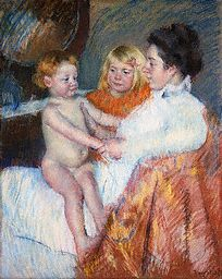 Mother, Sara, and the Baby by Mary Cassatt