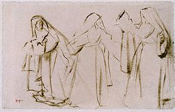 Sketch of Three Nuns - Degas