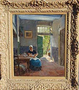 Dutch Interior, Mother and Child