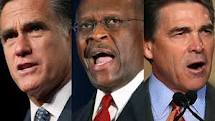 Romney Cain Perry 2012 GOP race