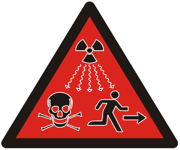 radiation warning symbol