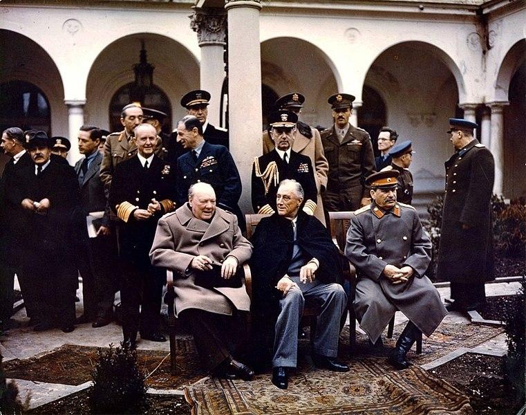 Yalta Conference 1945 Churchill, Stalin, Roosevelt