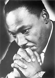 Martin Luther King praying