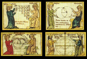 """quadrivium"" of arithmetic, music, geometry, and astronomy"
