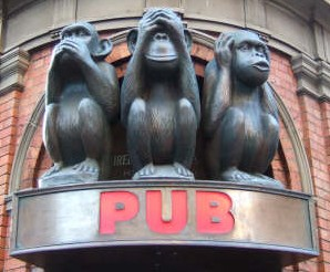 3 wise monkeys pub