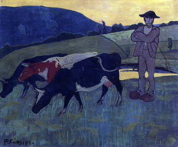 Peasant with Three Cows - (Paul Seru</a></noscript> &nbsp;</div> <div align=