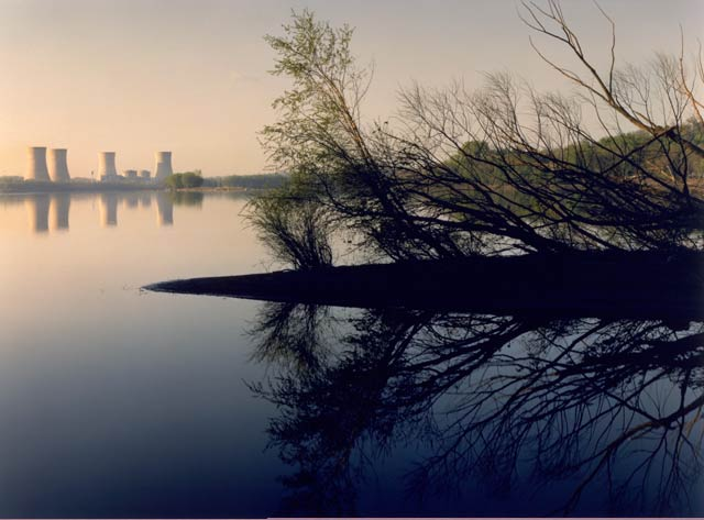 Three Mile Island Nuclear Plant, Susquehanna River, Pennsylvania, from the series Power Places, John Pfahl, 1982
