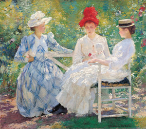Three Sisters, a Study in June Sunlight By Edmund Charles Tarbell