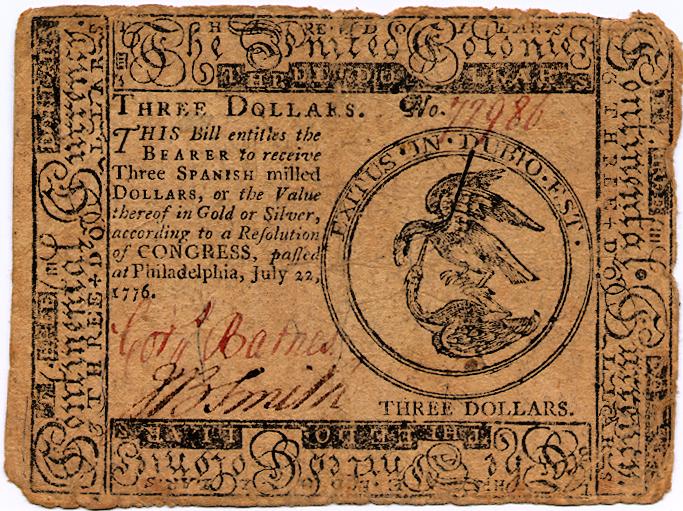 3 dollar bill first