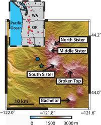 Three Sisters volcanoes in Oregon