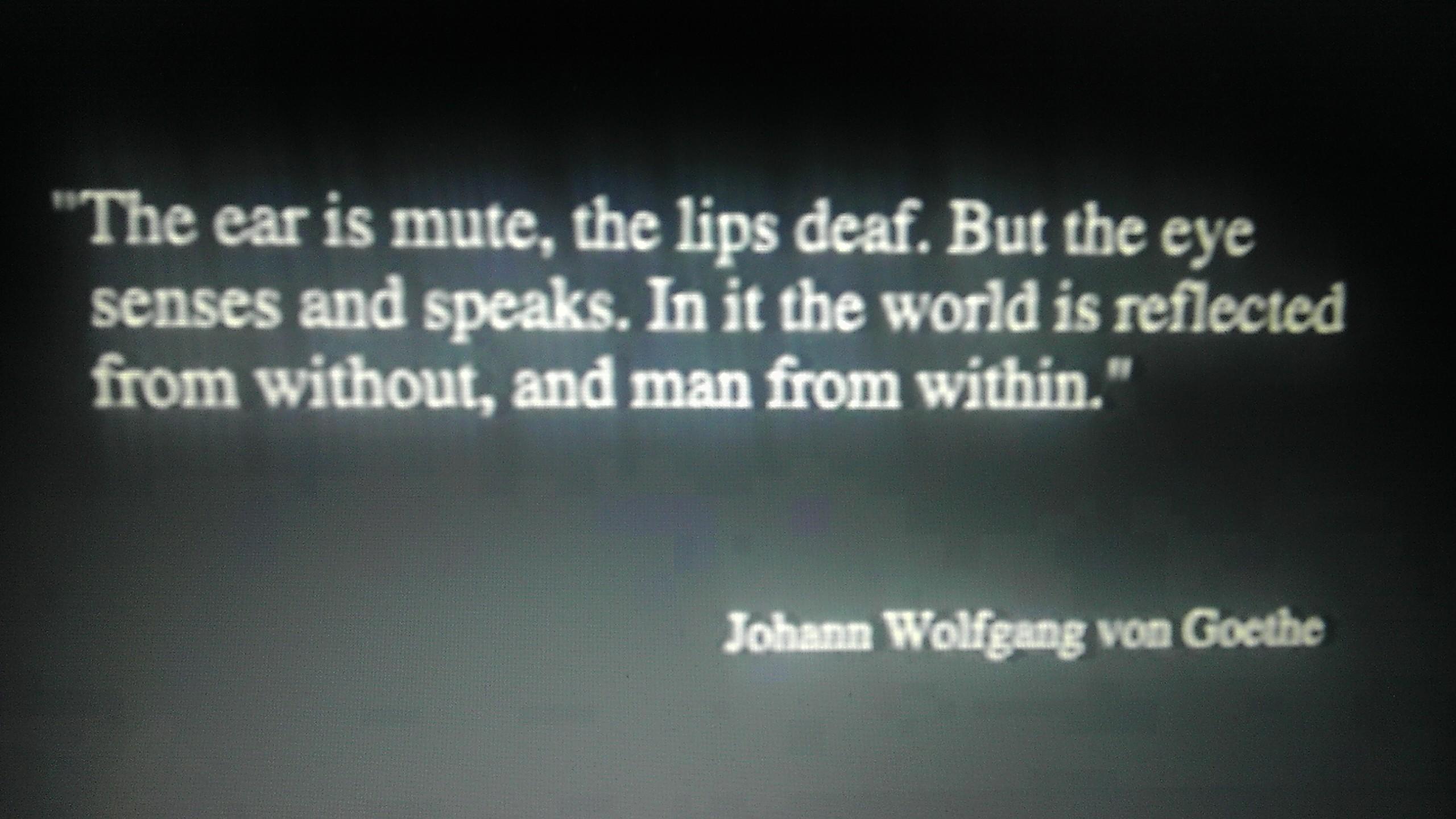 Goethe on seeing