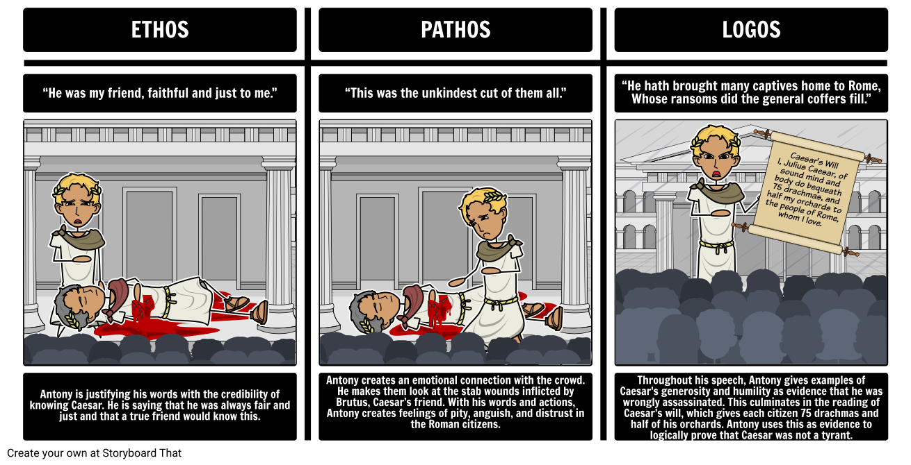 Caesar ethos pathos logos