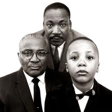 Martin Luther King Jr. with father and son