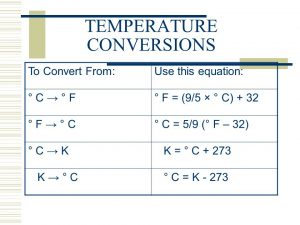 3 temperature conversions