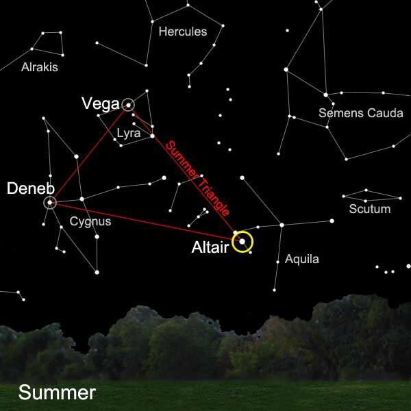 The Constellations of the Summer Triangle