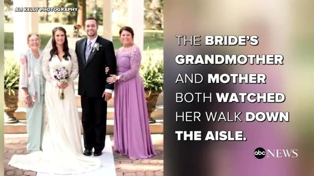Bride wears 3rd generation wedding dress for a lucky marriage like her grandmother, mother