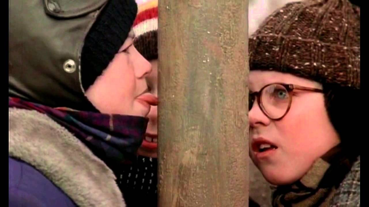 Scene from A Christmas Story - I triple dog dare you