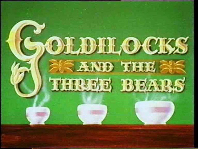 Goldilocks & the Three Bears cartoon - 1935