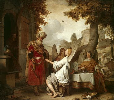 Abraham and the Three Angels by Eeckhout, Gerbrand van den