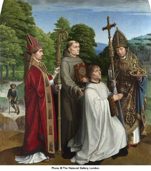 Canon Bernardijn Salviati and Three Saints lg