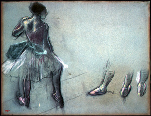 Dancer Seen from Behind and Three Studies of Feet, c. 1878 by Edgar Degas