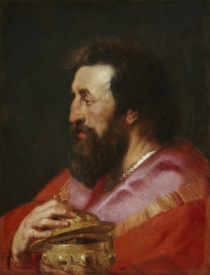 Head of One of the Three Kings, Rubens, Peter Paul ca.1615 lg