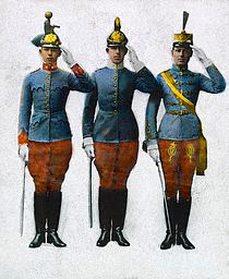 Illustration of Three Saluting Soldiers