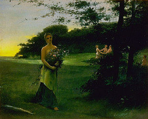 Juno and the Three Graces by Davies, Arthur Bowen (1862-1928)