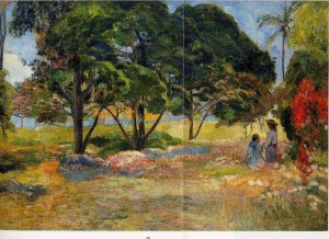 Landscape with Three Trees - (Paul Gauguin - 1892)