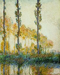 Three Trees, Autumn by Claude Monet