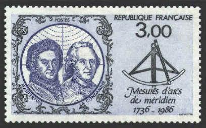 meridien_stamp_1736-1986