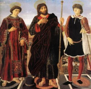 Altarpiece with Three Saints - Pollaiolo, Piero sm