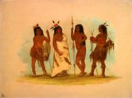 Apachee Chief and Three Warriors sm