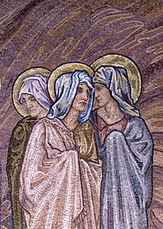 Detail Showing Three Virgin Saints from the Apse Mosaic of San Paolo fuori le Mura by Edward Burne-Jones