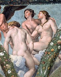 Detail of the Three Graces from the Loggia of Cupid and Psyche by Raphael and His Workshop