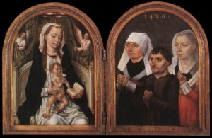 Diptych with the Virgin and Child and Three Donors sm