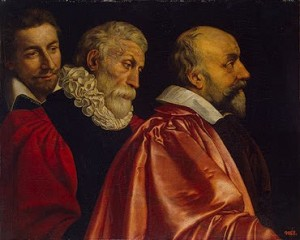 Group Portrait of Three Members of the Paris Council lg