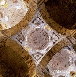 Interior View of the Three Central Domes of Cappella di San Cataldo