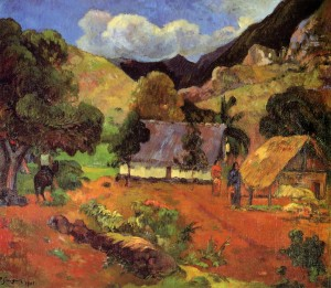Landscape with Three Figures, 1901 by Gauguin, Paul