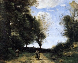 Landscape with Three Figures, ca.1850-1860 by Corot, Jean-Baptiste-Camille