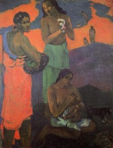 Maternity aka Three Woman on the Seashore - (Paul Gauguin - 1899)