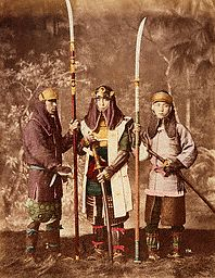Models Pose as Samurai