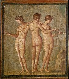 Roman Fresco of The Three Graces