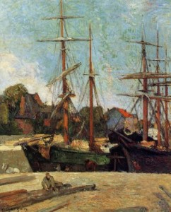 Schooner and Three-Master - (Paul Gauguin - 1886)
