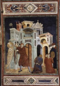 St Nicholas Saving Three Innocents from Decapitation by PALMERINO DI GUIDO