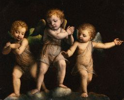 Three Cherubs by a Follower of Bernardino Luini