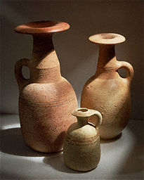 Three Jugs with Mushroom-Shaped Brims