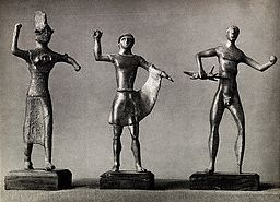 Three Sculpted Figures